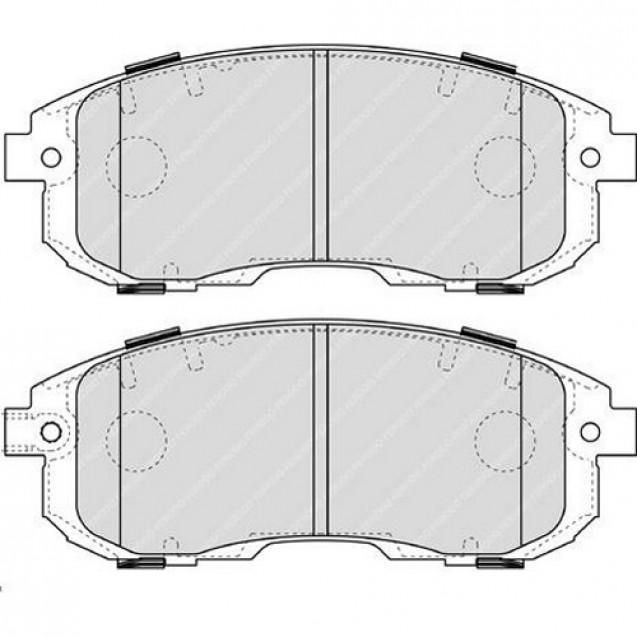 Ferodo Тормозные колодки дисковые/ Suzuki SX4