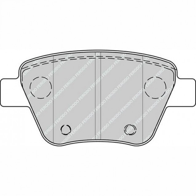 Ferodo Тормозные колодки дисковые/ Skoda Octavia