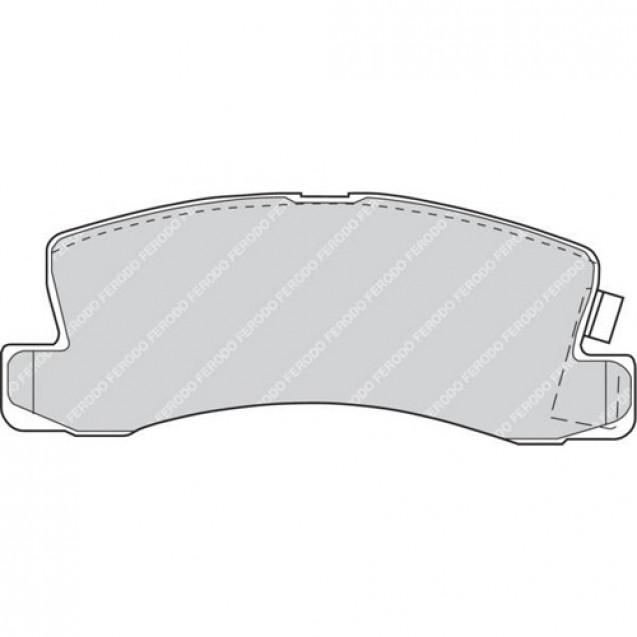 Ferodo Тормозные колодки дисковые/ Toyota Avensis