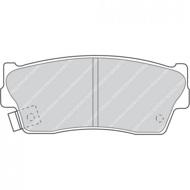 Ferodo Тормозные колодки дисковые/ Suzuki Grand Vitara