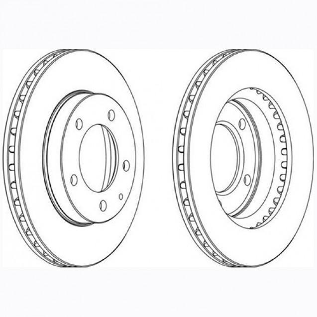 Glober Тормозной диск передний/ Mazda MX-6
