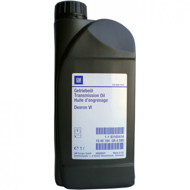 GM Dexron VI Трансмиссионное масло для АКПП и ГУР 1l