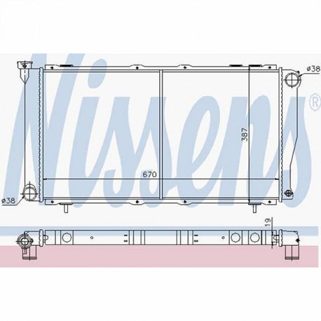 Nissens Радиатор системы охлаждения/ Subaru Forester
