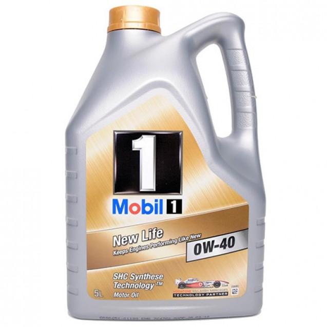 MOBIL 1 NEW LIFE 0W40 Синтетическое масло 5l