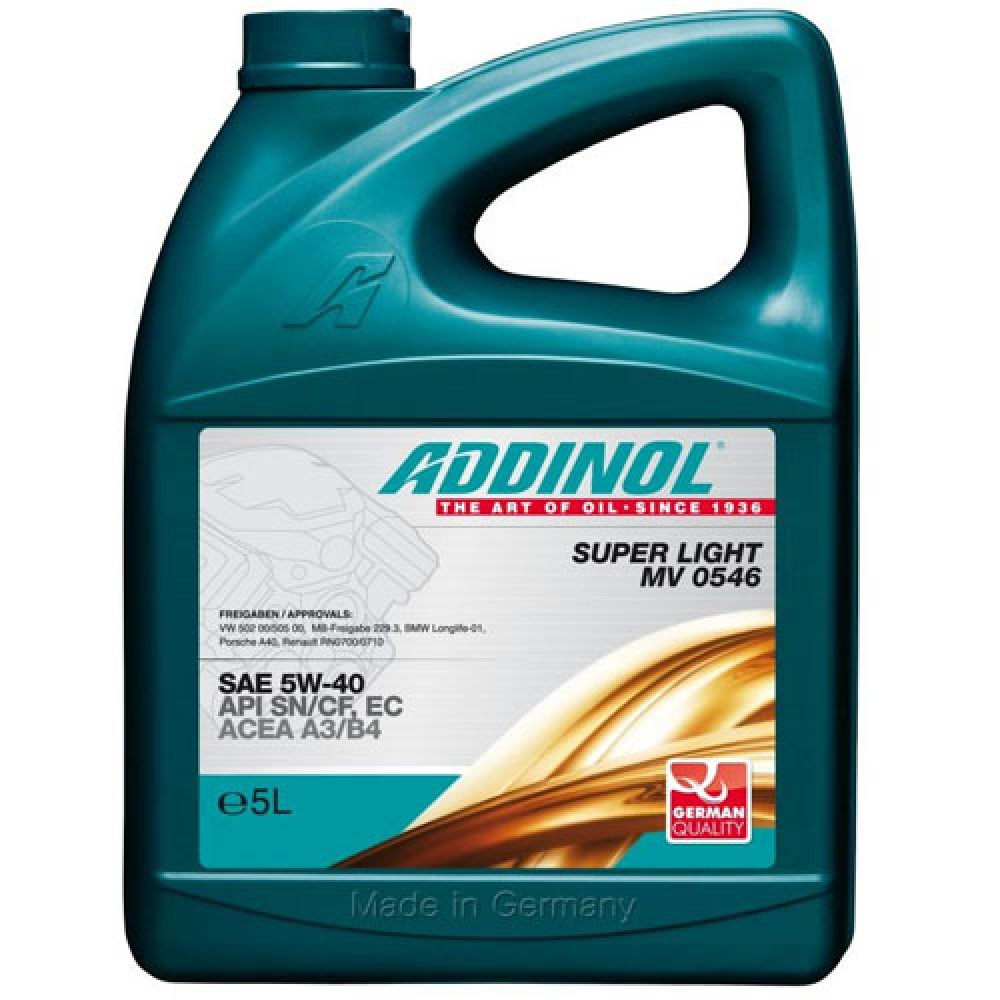 addinol super light mv 0546 5w40 5l