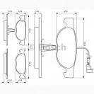Bosch Колодки тормозные передние/ Fiat BRAVA