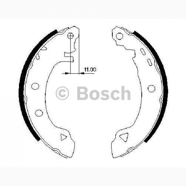 Bosch Тормозные колодки/ Alfa Romeo 145