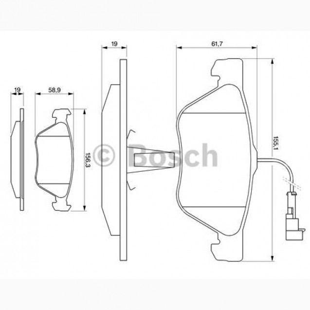 Bosch Тормозные колодки/ Alfa Romeo 147