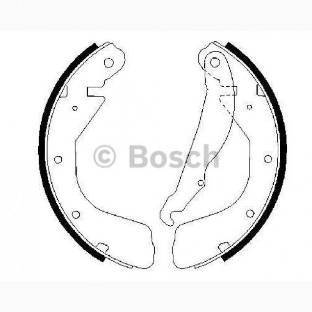 Bosch Тормозные колодки барабанные/ DAEWOO Lanos