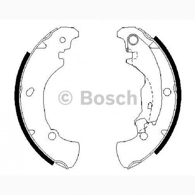 Bosch Тормозные колодки барабанные/ Fiat BRAVA