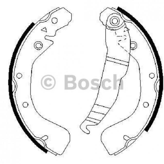 Bosch Тормозные колодки барабанные/ Opel Astra F