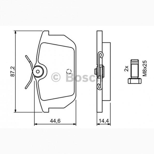 Bosch Тормозные колодки дисковые/ Alfa Romeo 145