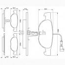 Bosch Тормозные колодки дисковые/ Alfa Romeo 146