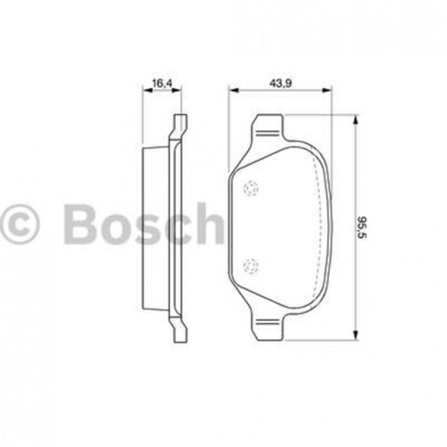 Bosch Тормозные колодки дисковые/ Alfa Romeo 147