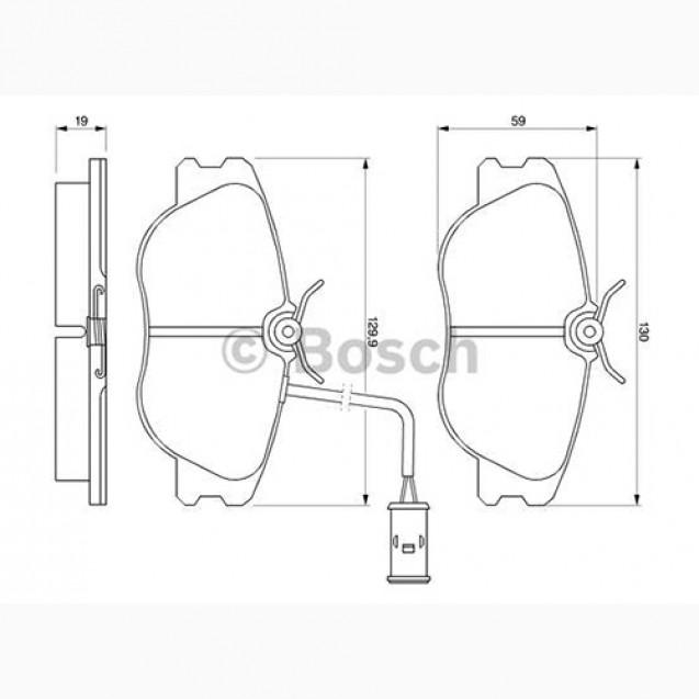 Bosch Тормозные колодки дисковые/ Alfa Romeo 164