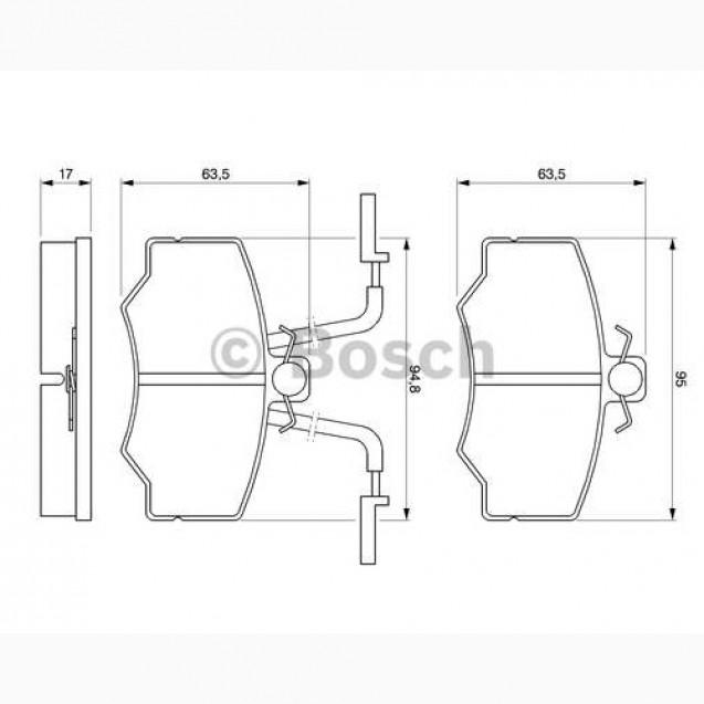 Bosch Тормозные колодки дисковые/ Alfa Romeo 33