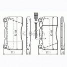 Bosch Тормозные колодки дисковые/ Alfa Romeo Brera