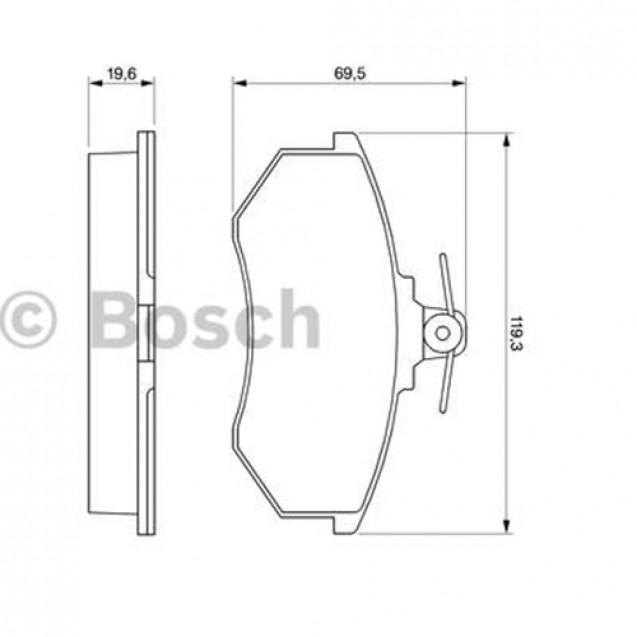 Bosch Тормозные колодки дисковые/ Audi 100