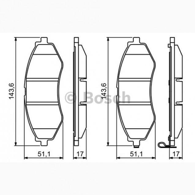 Bosch Тормозные колодки дисковые/ Chevrolet Aveo