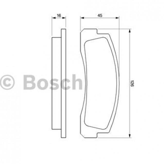 Bosch Тормозные колодки дисковые/ Chevrolet Niva