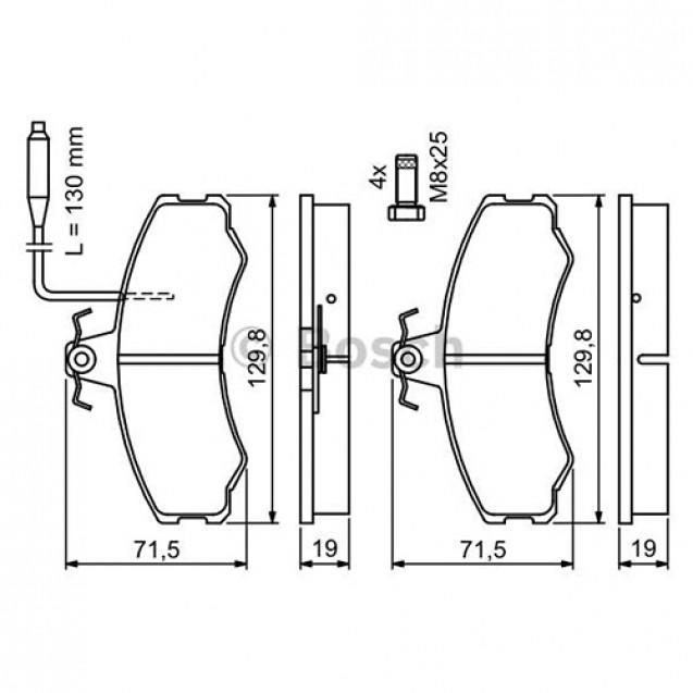 Bosch Тормозные колодки дисковые/ Fiat Ducato