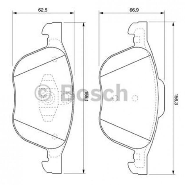 Bosch Тормозные колодки дисковые/ Ford Focus