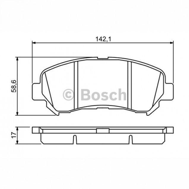 Bosch Тормозные колодки дисковые/ Nissan Qashqai
