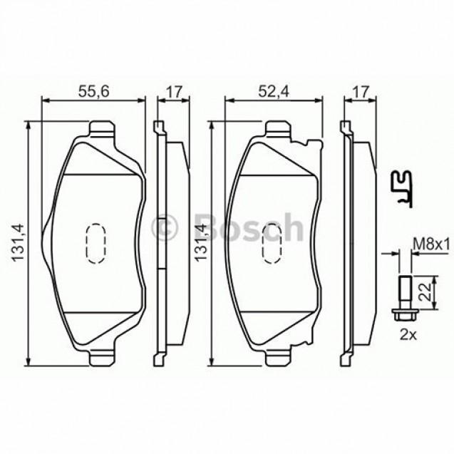 Bosch Тормозные колодки дисковые/ Opel Combo Tour
