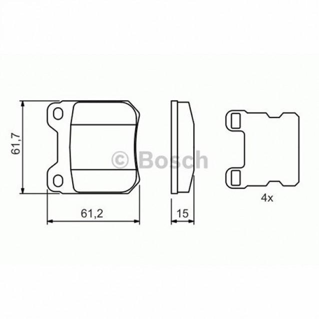 Bosch Тормозные колодки дисковые/ Opel Omega B