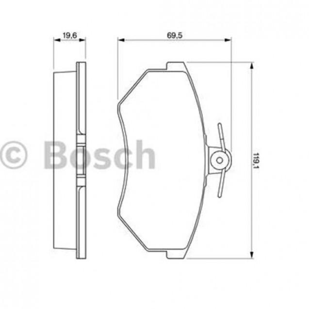 Bosch Тормозные колодки дисковые передние/ Audi 80
