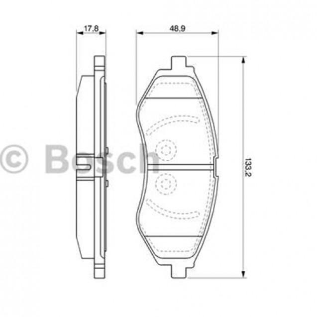 Bosch Тормозные колодки дисковые передние/ Chevrolet Aveo