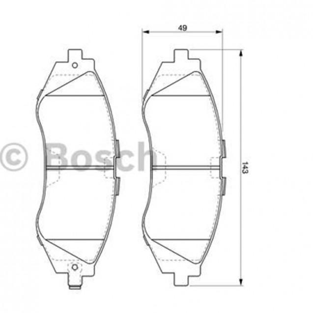 Bosch Тормозные колодки дисковые передние/ Chevrolet Tacuma