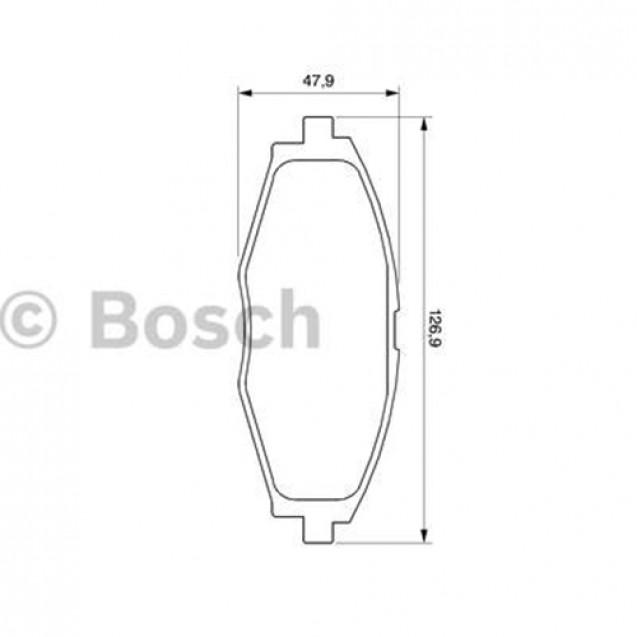 Bosch Тормозные колодки дисковые передние/ DAEWOO Lanos