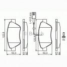 Bosch Тормозные колодки дисковые передние/ Fiat Doblo