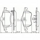 Bosch Тормозные колодки дисковые передние/ OPEL Astra G