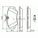 Bosch Тормозные колодки дисковые передние/ OPEL Omega B
