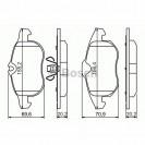 Bosch Тормозные колодки дисковые передние/ OPEL Vectra C