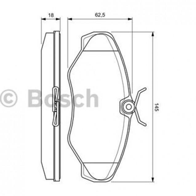 Bosch Тормозные колодки дисковые передние/ OPEL Vivaro