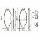Bosch Тормозные колодки дисковые передние/ Peugeot 206