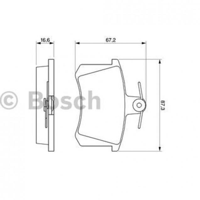 Bosch Тормозные колодки дисковые задние/ Alfa Romeo 164