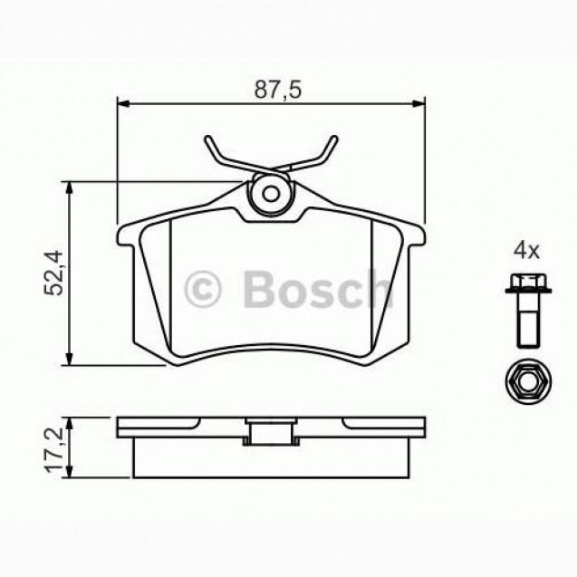 Bosch Тормозные колодки дисковые задние/ Audi A1
