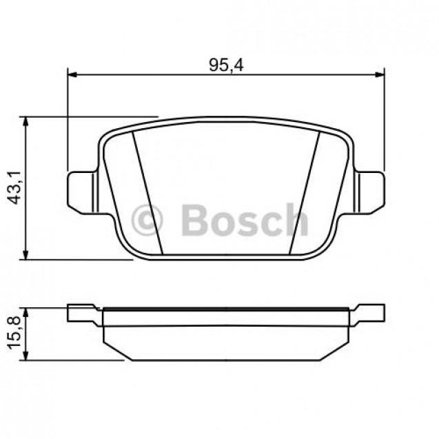 Bosch Тормозные колодки дисковые задние/ Ford Kuga