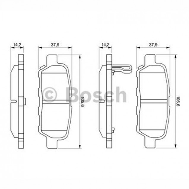 Bosch Тормозные колодки дисковые задние/ Nissan Murano