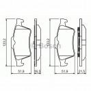 Bosch Тормозные колодки дисковые задние/ Opel Vectra C