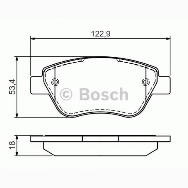 Bosch Тормозные колодки/ Fiat Doblo