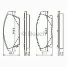 Bosch Тормозные колодки передние/ Chevrolet Cruze