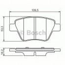 Bosch Тормозные колодки задние/ Audi A1