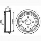 Bosch Тормозной барабан/ DAEWOO Lanos