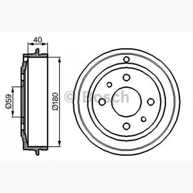 Bosch Тормозной барабан/ Fiat BRAVA
