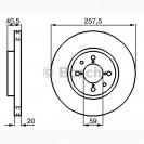 Bosch Тормозной диск/ Alfa Romeo 145